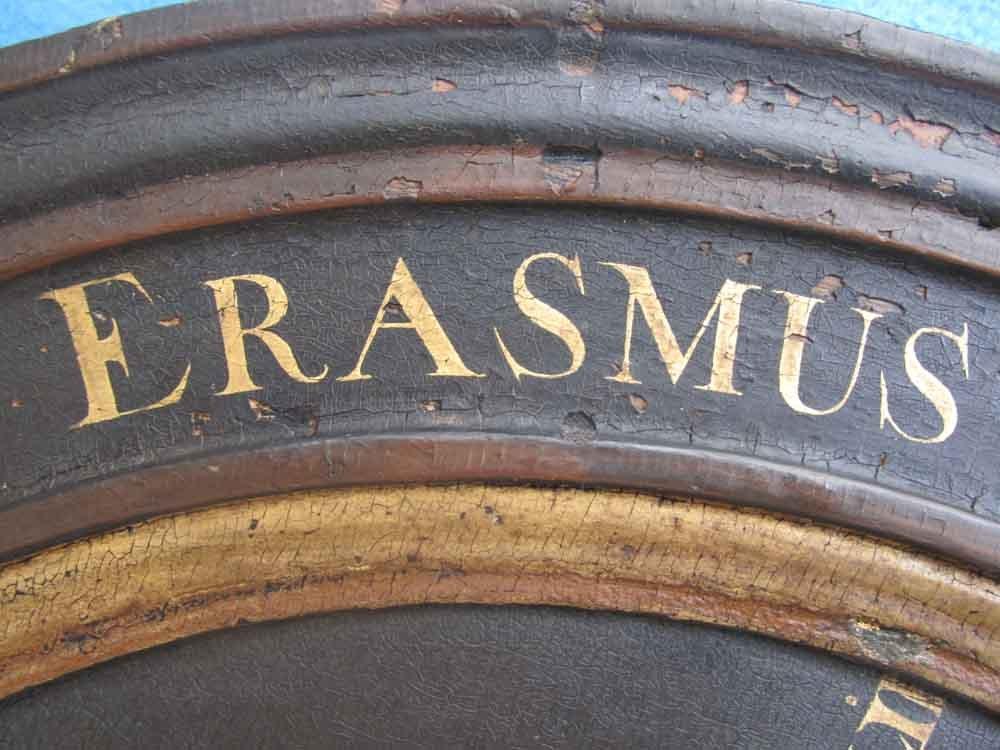 Paneel Erasmus voor restauratie
