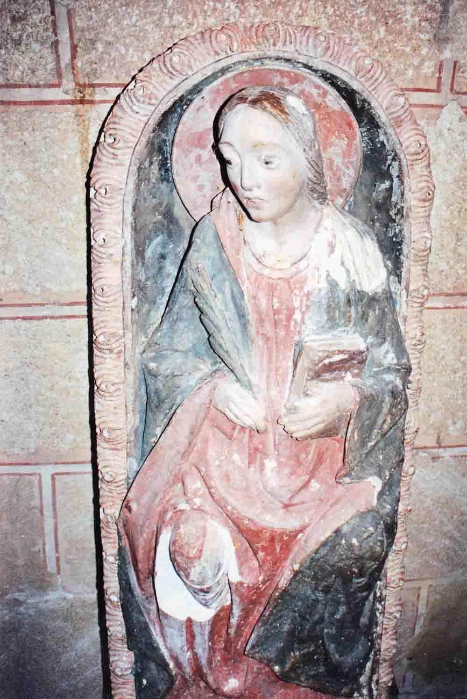 Restauratie sculptuur heilige Sabina in Avila, Spanje