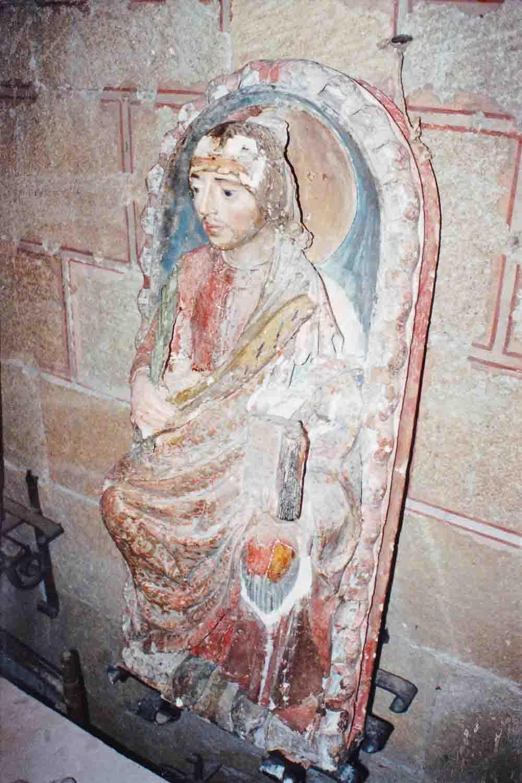 Restauratie sculptuur heilige Vicente in Avila, Spanje