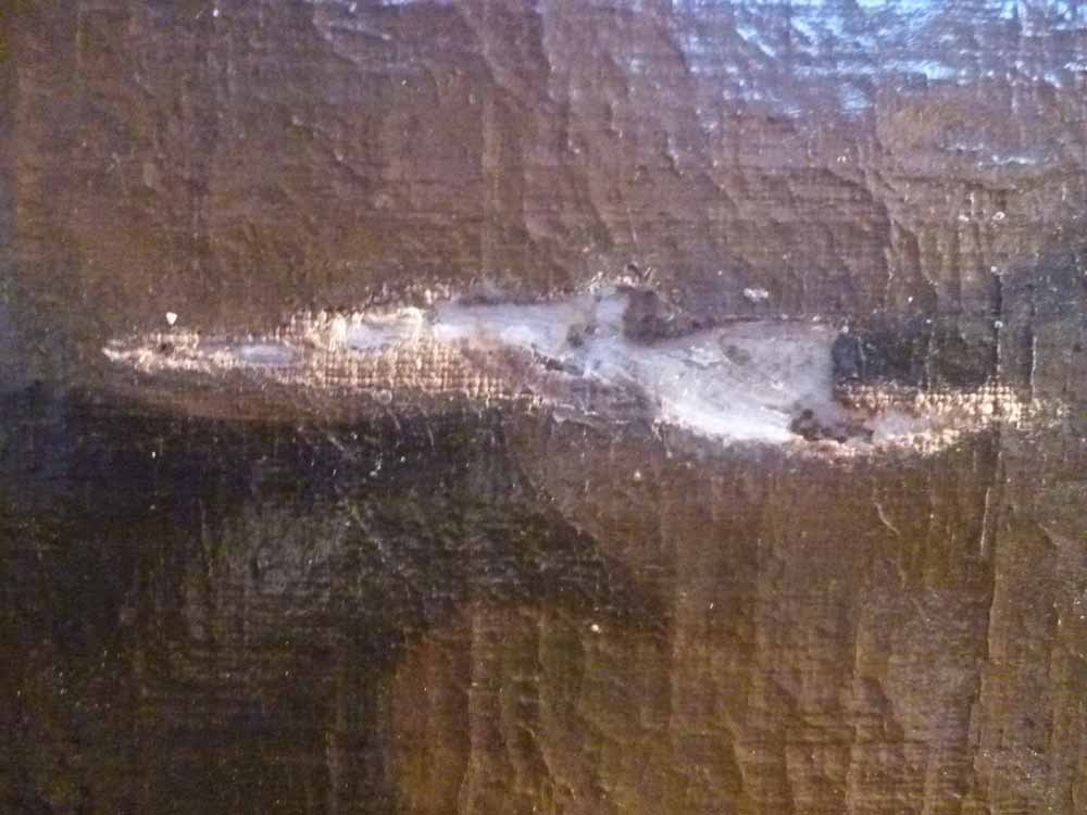 Restauratie schilderij - voor